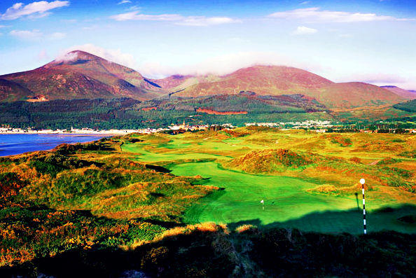 A beautiful day at Royal County Down golf course